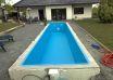 Schwimmbecken gemauert.