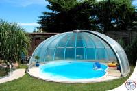 Überdachung für einen Runden Pool
